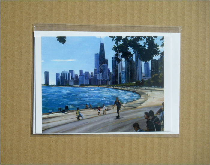 """ALONG LAKE MICHIGAN"" - Individual Greeting Card"