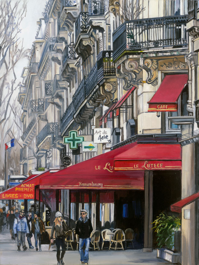 """Cafe Rouge"" - 14x18"" Paper Print"
