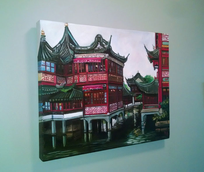 """OLD CITY OF SHANGHAI"" - 20x16"" Original Oil Painting"