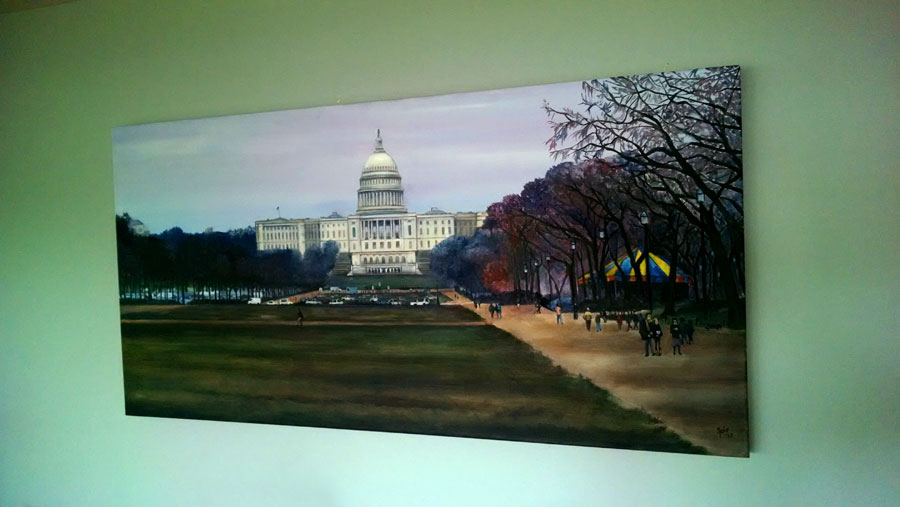 """CAPITOL MALL"" - 48x24"" Original Oil Painting"
