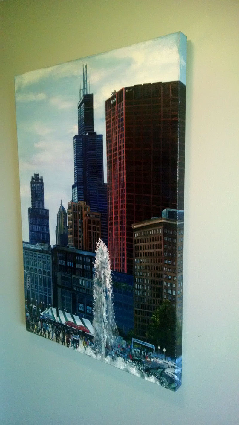 """TALL TOWERS"" - 24x36"" Original Oil Painting"