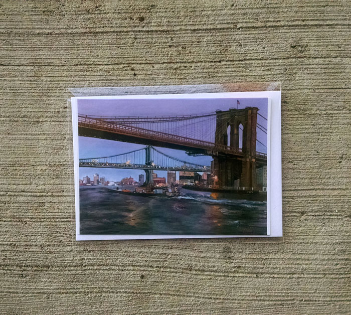 """BRIDGE TO BROOKLYN"" - Individual Greeting Card"