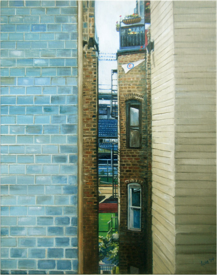 """CUBbyhole"" - 12x15"" Chicago Painting Paper Print"