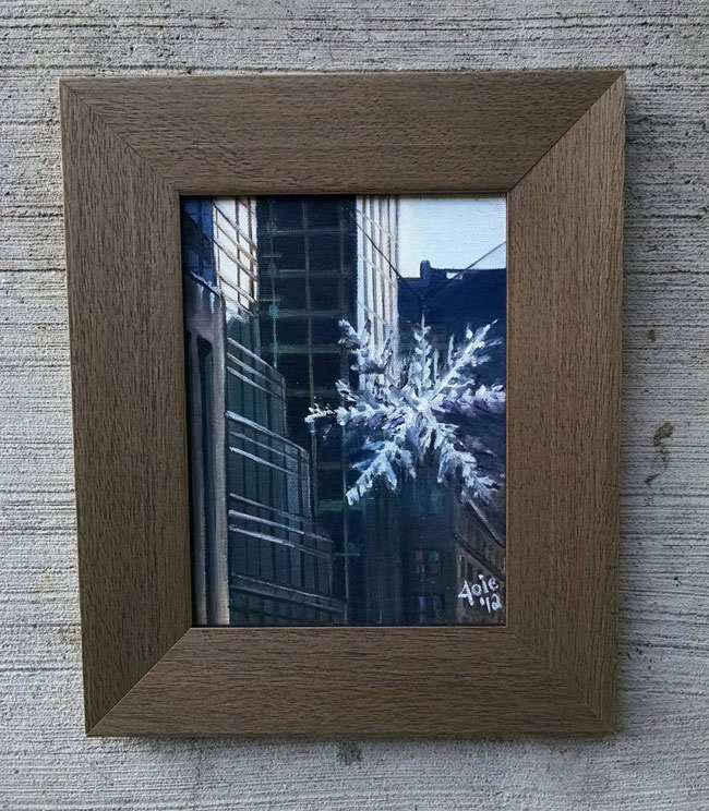 """5TH AVENUE FLAKE""- 6x8"" Original Oil Painting"