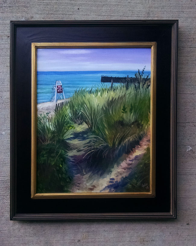 """DUNES TRAIL POINT"" - 16x20"" Original Oil Painting"