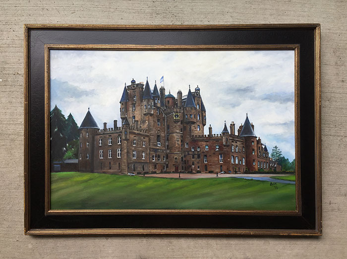 """Glamis Castle"" - 36x24"" Original Oil Painting"