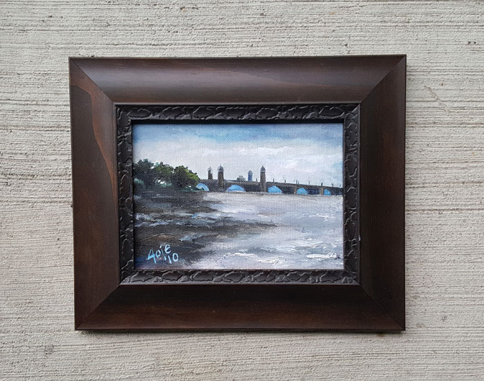 """LONGFELLOW BRIDGE"" - 7x5"" Original Oil Painting"
