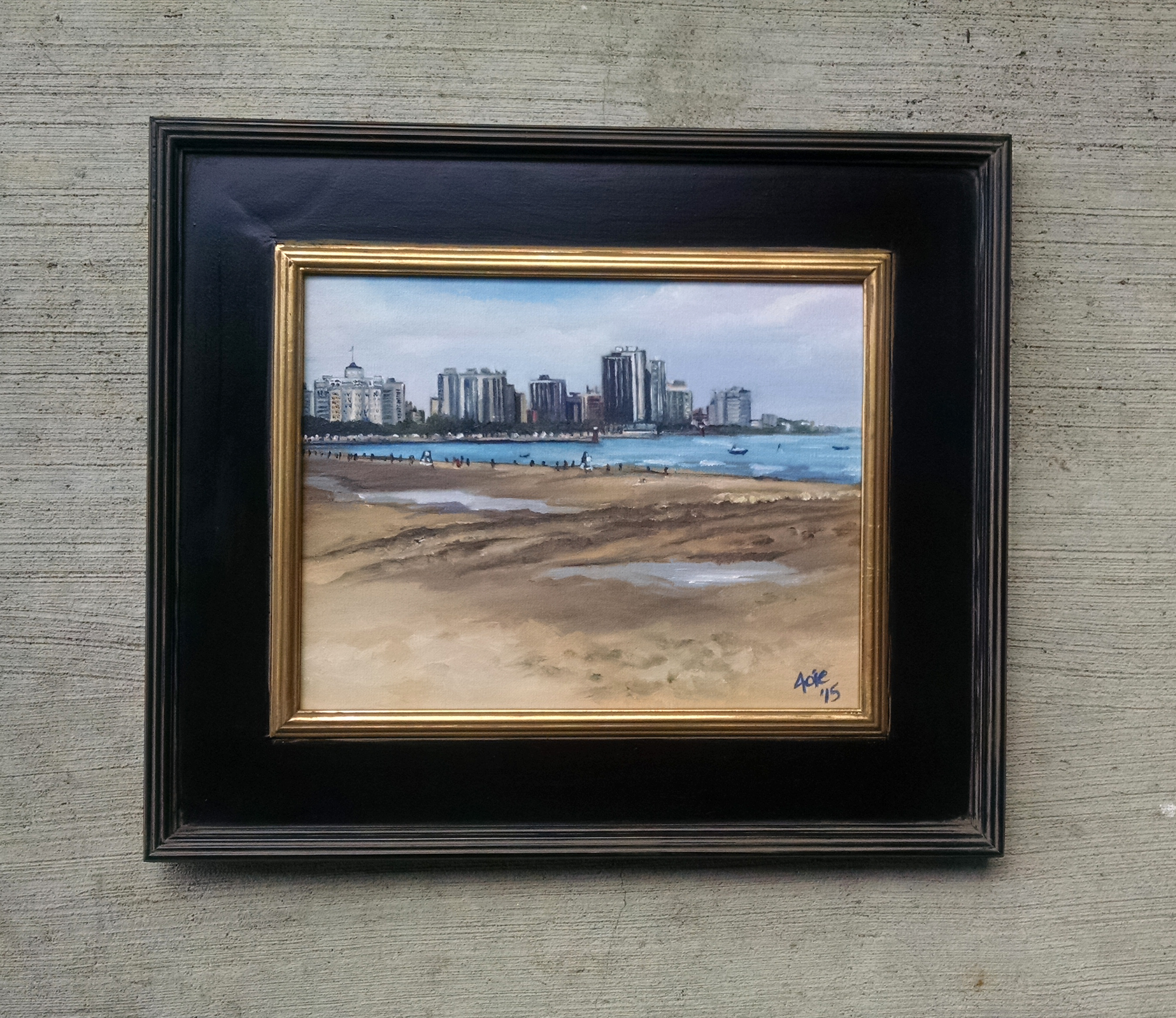 """MONTROSE BEACH"" - 14x11"" Original Oil Painting"