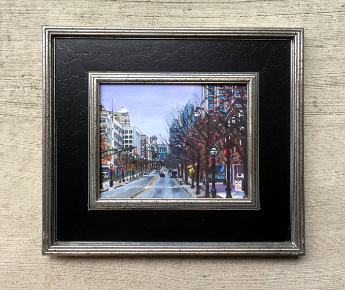 """Peachtree Street"" - 10x8"" Original Oil Painting"