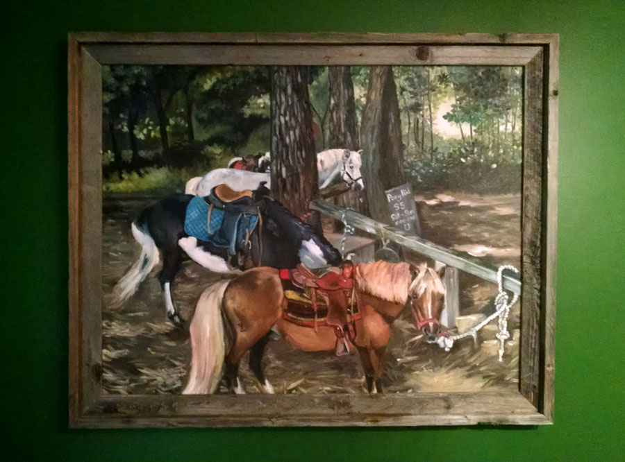"""PONIES FOR HIRE"" - 28x22 Original Oil Painting"