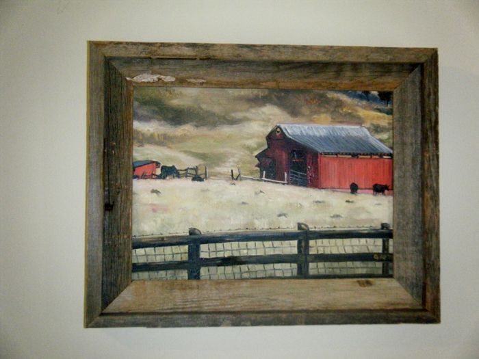 """RED TENNESSEE BARN"" - 12x9"" Original Oil Painting"