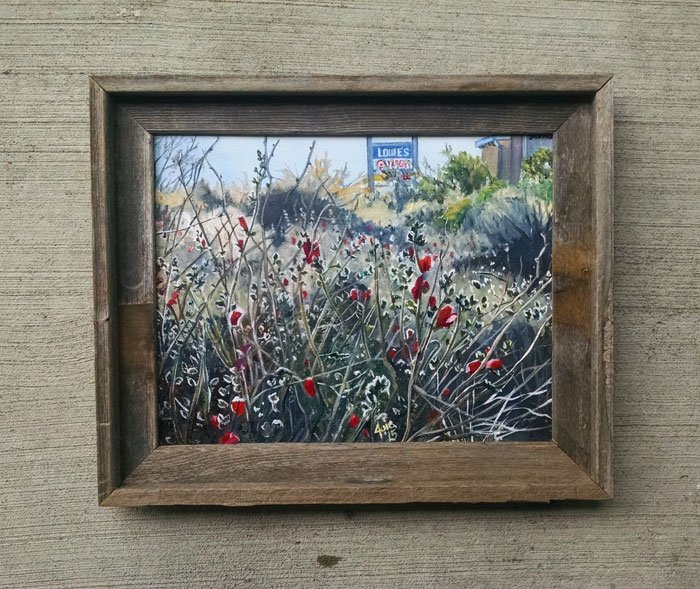 """ROADSIDE FLOWERS"" - 14x11"" Original Oil Painting"