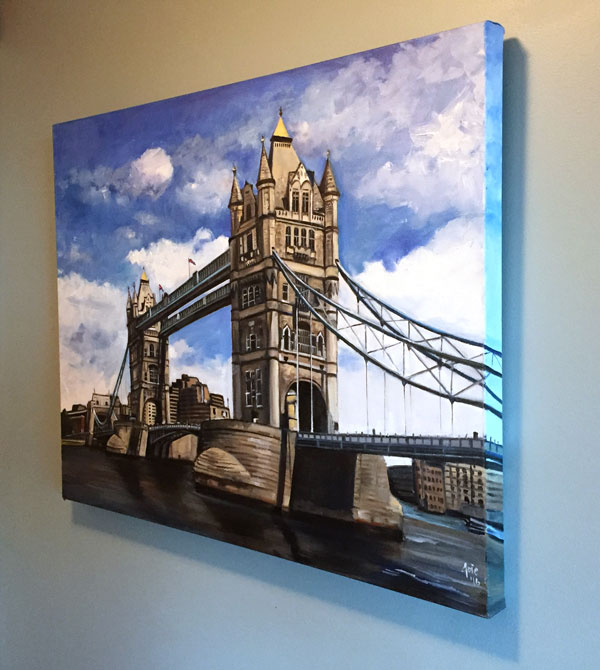 """Tower Bridge"" - 30x24"" Original Oil Painting"