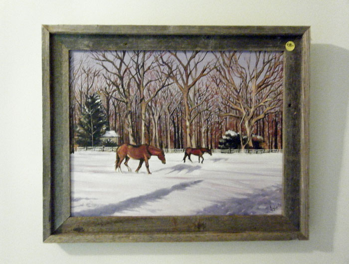 """WINTER PASTURE"" -18x14"" Original Oil Painting"
