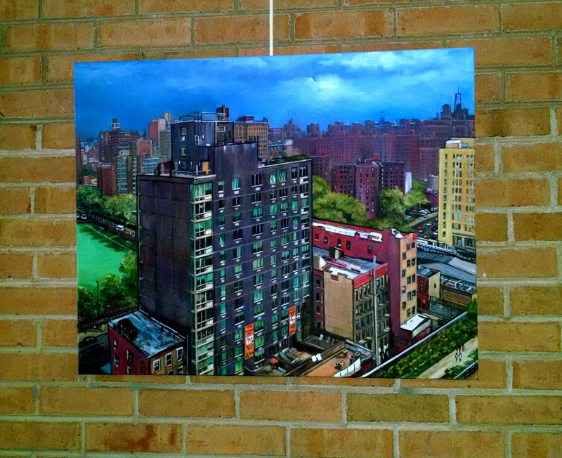 """URBAN QUILT"" - Original Oil Painting"