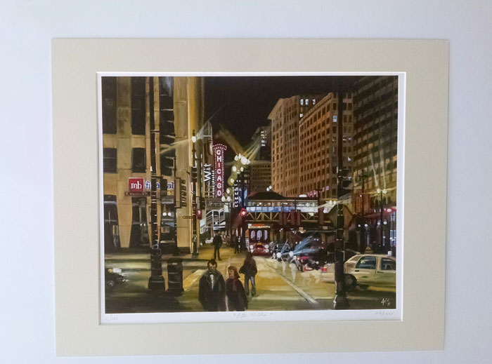 """AFTER THE SHOW"" - Matted Giclée Print"