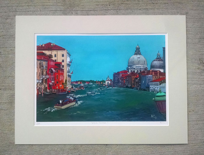"""ACQUA TURCHESE"" - Matted Print"