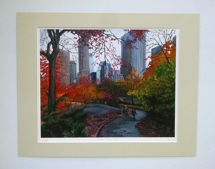 """CENTRAL PARK STROLL - Matted Print"