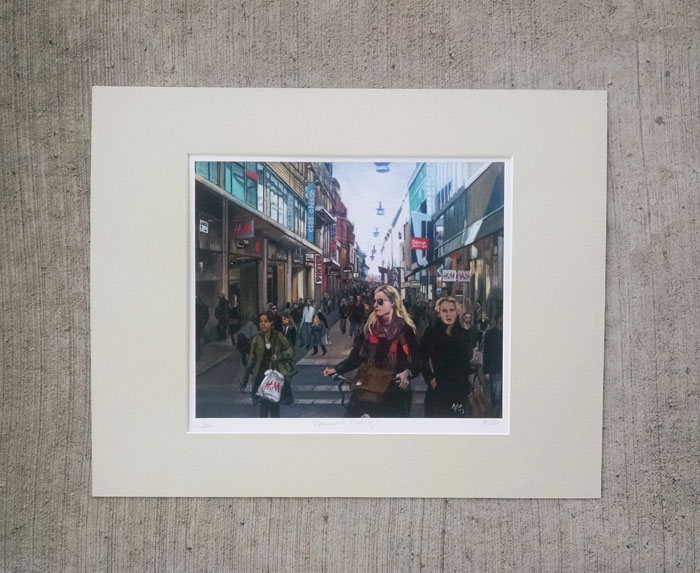 """COMMERCIAL CROSSING"" - Matted Print"