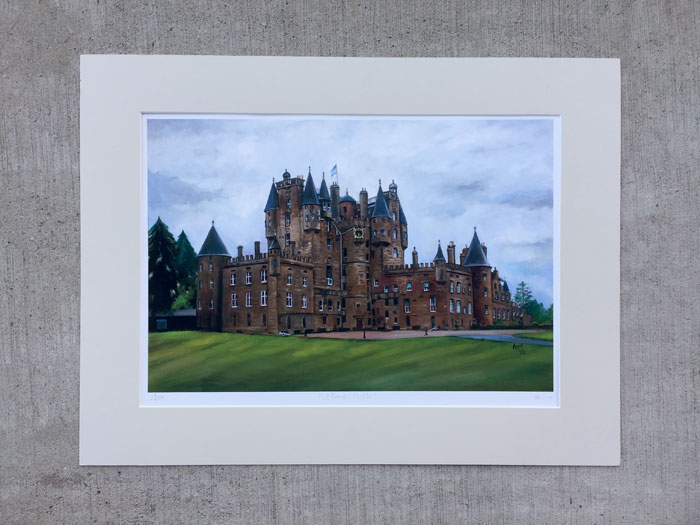 """Glamis Castle"" - Matted Print"