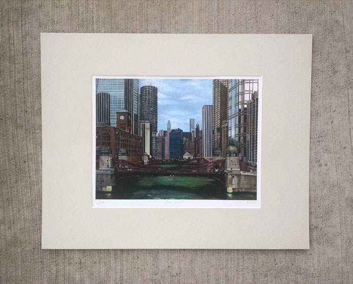 """GREEN RIVER"" - Matted Print"