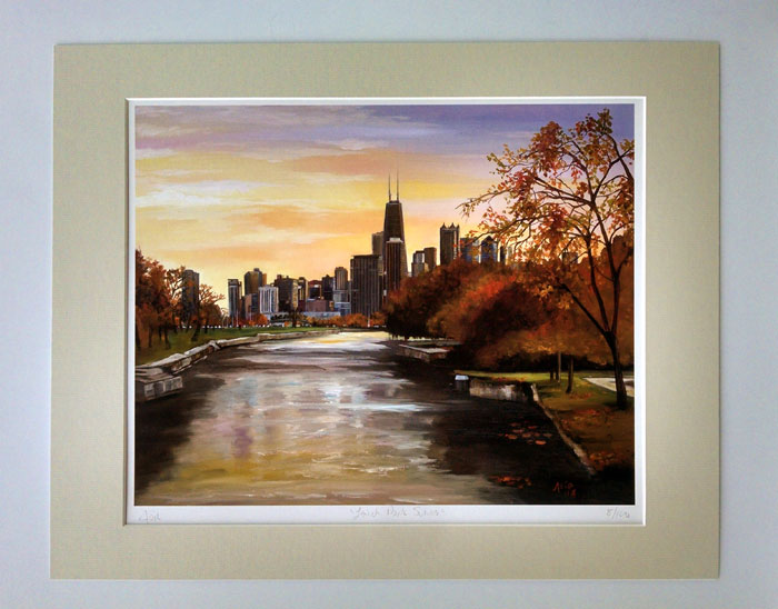 """LINCOLN PARK VIEW"" - Matted Print"