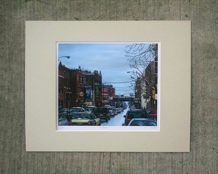"""MARCH"" - Matted Print"