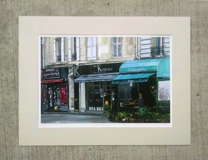 """TROIS BOUTIQUES"" - Matted Print"