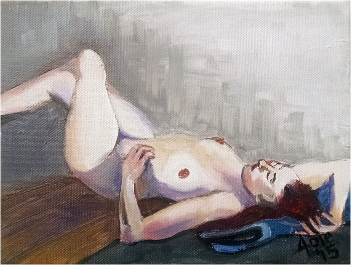 """RECLINE 2"" - 8x6"" Original Oil Painting"