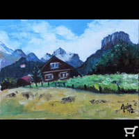 Swiss Chalet Mini Paintng