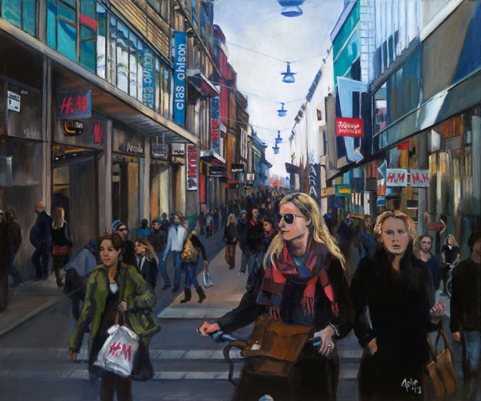 Stockholm painting, Commercial Crossing