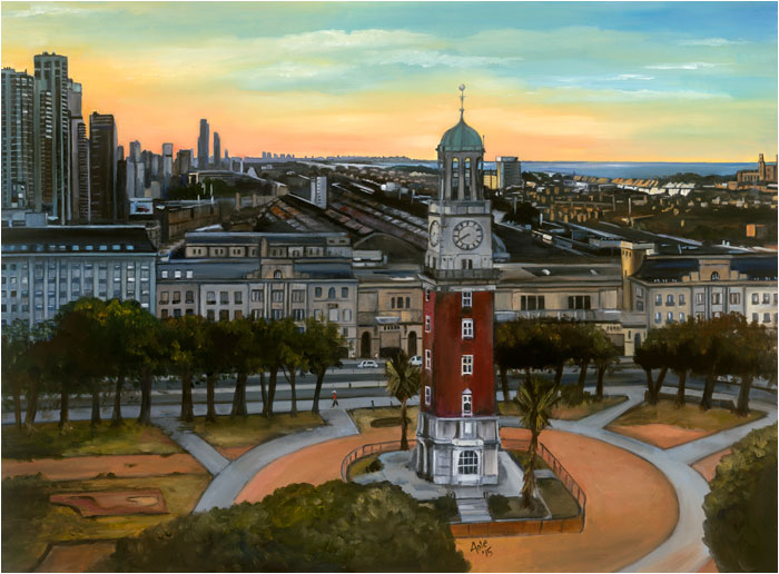 Buenos Aires painting, Torre Monumental