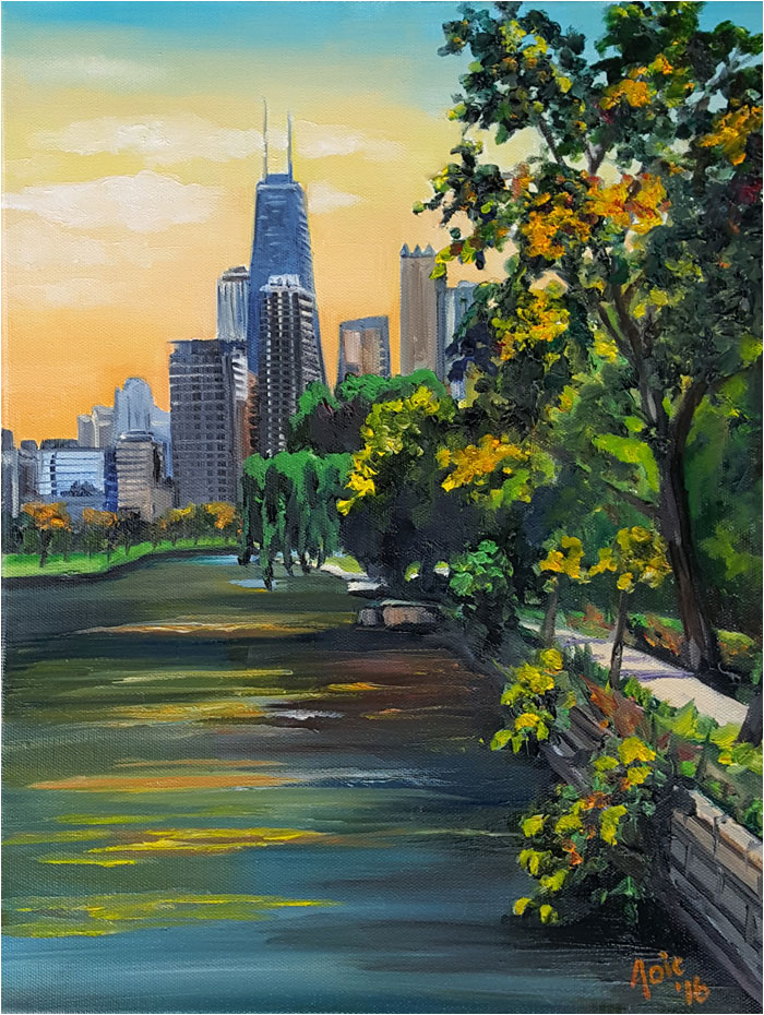 Lincoln Park Oil Painting, Gold Rush