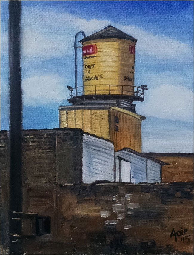 Water Tower - Yellow