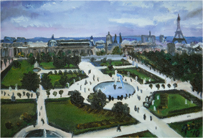 Art de joie louvre oil painting jardin des tuileries for Tuileries jardin
