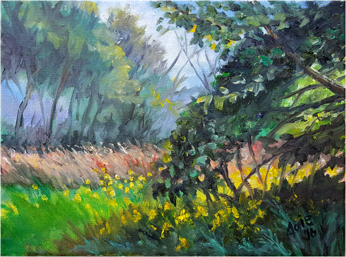 Late Summer Meadow Painting of Glenview, Illinois