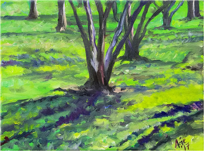 Spring Shadows Landscape Oil Painting