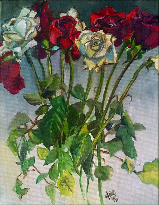 """ANNIVERSARY ROSES"" - Original Oil Painting"